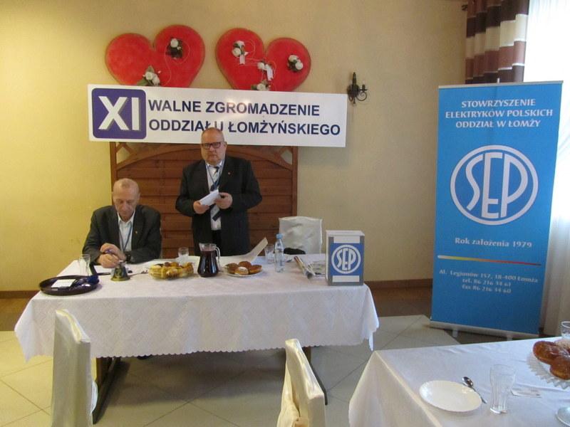 XI Walne Zgromadzenie Członków Łomżyńskiego Oddziału SEP
